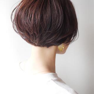 ショートボブ ショート 女子力 大人かわいい ヘアスタイルや髪型の写真・画像