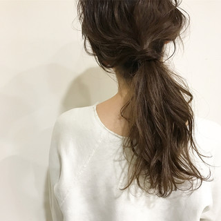 ヘアアレンジ ミディアム 簡単ヘアアレンジ デート ヘアスタイルや髪型の写真・画像