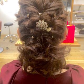 結婚式 ボブ パーティ ヘアアレンジ ヘアスタイルや髪型の写真・画像 ヘアスタイルや髪型の写真・画像