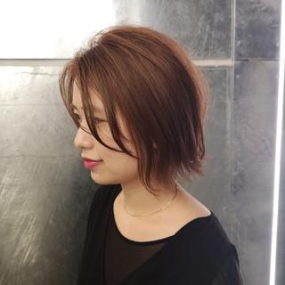 ショートボブ 透明感 大人かわいい ハンサムショート ヘアスタイルや髪型の写真・画像