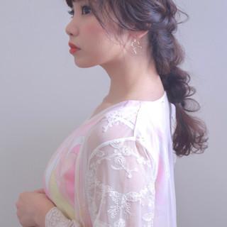 女子会 デート ロング フェミニン ヘアスタイルや髪型の写真・画像