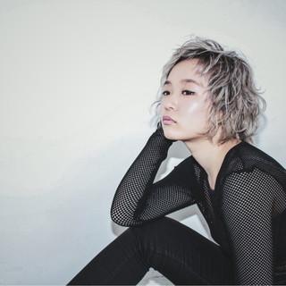 モード パーマ 渋谷系 アッシュ ヘアスタイルや髪型の写真・画像 ヘアスタイルや髪型の写真・画像