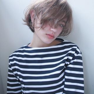 ストリート ウェーブ パーマ ショート ヘアスタイルや髪型の写真・画像