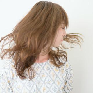 大人かわいい フェミニン ゆるふわ セミロング ヘアスタイルや髪型の写真・画像
