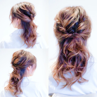 簡単ヘアアレンジ ハーフアップ デート ヘアアレンジ ヘアスタイルや髪型の写真・画像 ヘアスタイルや髪型の写真・画像