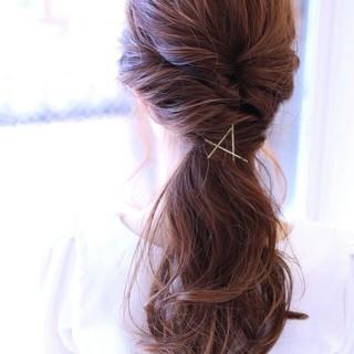 ヘアアレンジ ショート ゆるふわ ロング ヘアスタイルや髪型の写真・画像