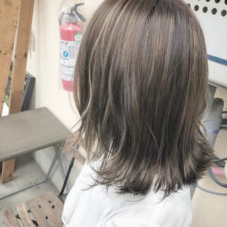 ハイライト ボブ デート 3Dハイライト ヘアスタイルや髪型の写真・画像