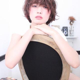ゆるふわ ピュア パーマ ショート ヘアスタイルや髪型の写真・画像
