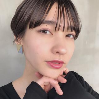 黒髪 ハンサムショート ショート モード ヘアスタイルや髪型の写真・画像