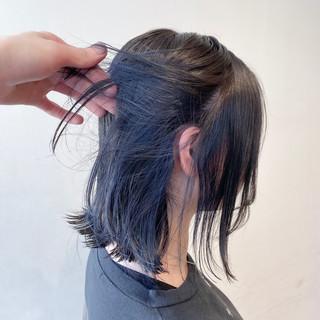 ナチュラル 切りっぱなしボブ ブルージュ ボブ ヘアスタイルや髪型の写真・画像