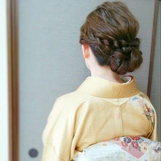 ロング ヘアアレンジ 大人かわいい 和装 ヘアスタイルや髪型の写真・画像 ヘアスタイルや髪型の写真・画像