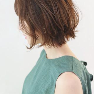 レイヤーカット ミニボブ ボブ ショートヘア ヘアスタイルや髪型の写真・画像