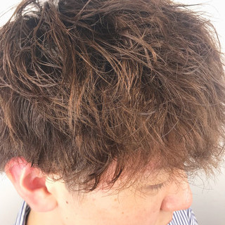 メンズマッシュ ストリート ショート メンズパーマ ヘアスタイルや髪型の写真・画像