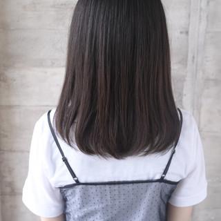 可愛い セミロング ナチュラル トリートメント ヘアスタイルや髪型の写真・画像