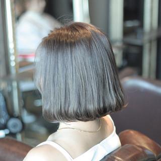 モテ髪 ストリート アッシュ 暗髪 ヘアスタイルや髪型の写真・画像