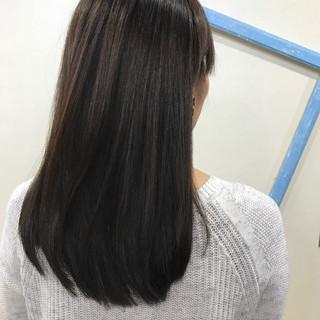 ストレート ミディアム ロング 伸ばしかけ ヘアスタイルや髪型の写真・画像