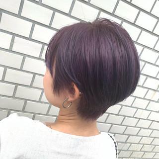 N.オイル ショート ブリーチ フェミニン ヘアスタイルや髪型の写真・画像