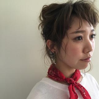 ヘアアレンジ ミディアム 夏 外国人風 ヘアスタイルや髪型の写真・画像 ヘアスタイルや髪型の写真・画像