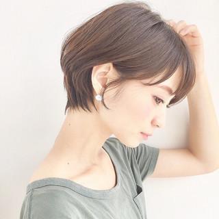 透明感 リラックス ゆるふわ ショート ヘアスタイルや髪型の写真・画像