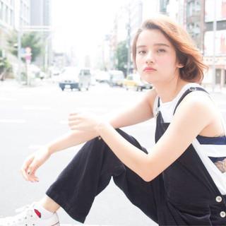 ピュア ミディアム くせ毛風 ストリート ヘアスタイルや髪型の写真・画像