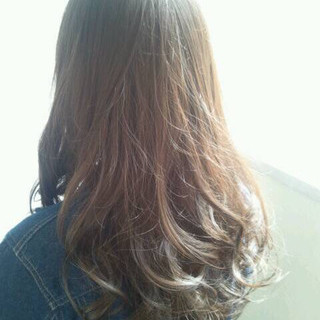 セミロング ブラウン ゆるふわ ガーリー ヘアスタイルや髪型の写真・画像