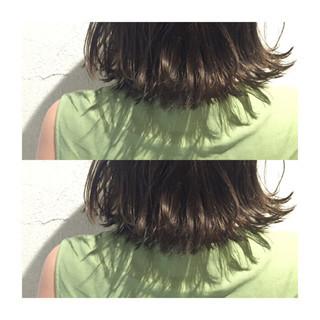 ボブ 外国人風 アッシュ ハイライト ヘアスタイルや髪型の写真・画像