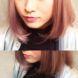 グラデーションカラー ストリート 大人かわいい 外国人風 ヘアスタイルや髪型の写真・画像