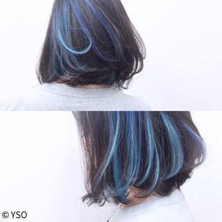 インナーカラー ストレート ボブ 大人かわいい ヘアスタイルや髪型の写真・画像 ヘアスタイルや髪型の写真・画像