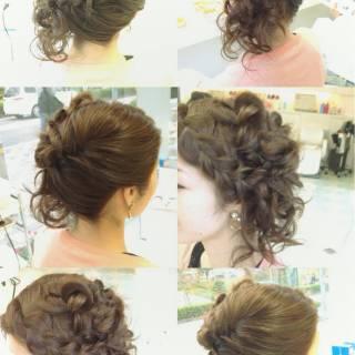 大人かわいい 編み込み 前髪アレンジ ゆるふわ ヘアスタイルや髪型の写真・画像