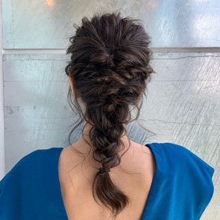 ヘアアレンジ 編み込み ロング 編みおろし ヘアスタイルや髪型の写真・画像