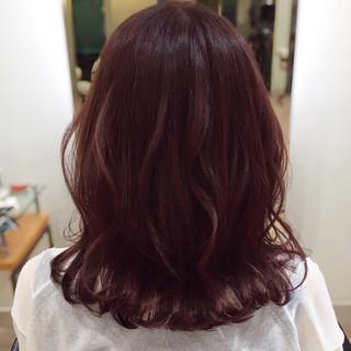 ピンクベージュ ピンク ピンクブラウン ピンクバイオレット ヘアスタイルや髪型の写真・画像