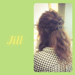 簡単ヘアアレンジ ショート ハーフアップ ヘアアレンジ ヘアスタイルや髪型の写真・画像