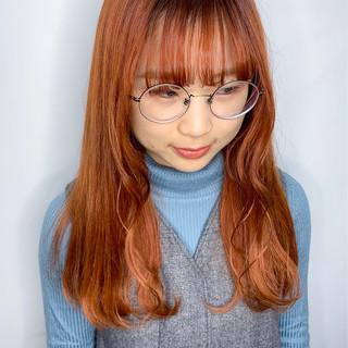 インナーカラー 透明感カラー ロング 外国人風カラー ヘアスタイルや髪型の写真・画像