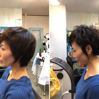 ベリーショート ナチュラル 小顔ヘア 無造作ミックス ヘアスタイルや髪型の写真・画像 ヘアスタイルや髪型の写真・画像