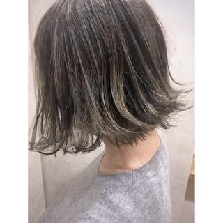 抜け感 グラデーションカラー ナチュラル ボブ ヘアスタイルや髪型の写真・画像
