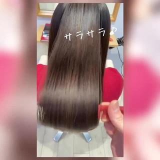 暗髪 髪質改善 ナチュラル トリートメント ヘアスタイルや髪型の写真・画像