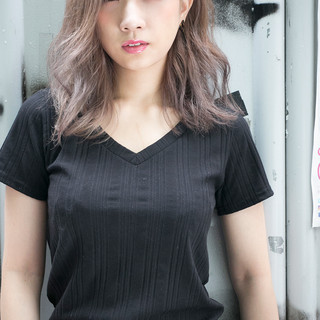 グラデーションカラー 外国人風 アッシュ ストリート ヘアスタイルや髪型の写真・画像