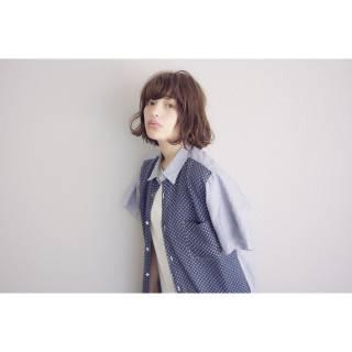 パンク ボブ ウェットヘア ストリート ヘアスタイルや髪型の写真・画像