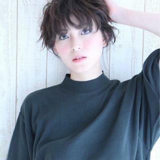 暗髪 ガーリー ストレート ナチュラル ヘアスタイルや髪型の写真・画像