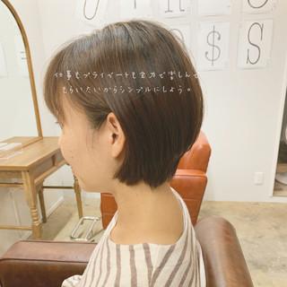 ゆるふわ ショートボブ ナチュラル ショート ヘアスタイルや髪型の写真・画像