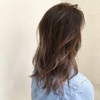 ストリート 爽やか ミルクティー セミロング ヘアスタイルや髪型の写真・画像 ヘアスタイルや髪型の写真・画像