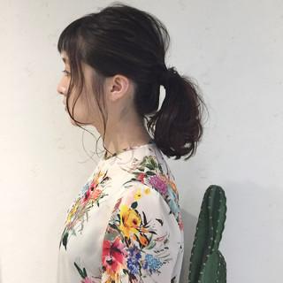 女子会 ミディアム ヘアアレンジ デート ヘアスタイルや髪型の写真・画像 ヘアスタイルや髪型の写真・画像