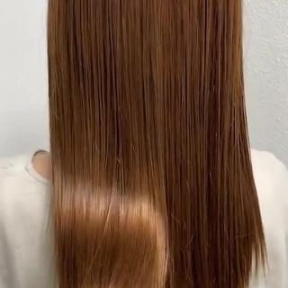 艶髪 ロング 髪質改善トリートメント 縮毛矯正 ヘアスタイルや髪型の写真・画像