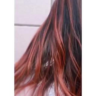 ロング バレイヤージュ ヘアアレンジ ハイトーン ヘアスタイルや髪型の写真・画像