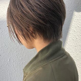 ナチュラル ハイライト グレージュ ボブ ヘアスタイルや髪型の写真・画像