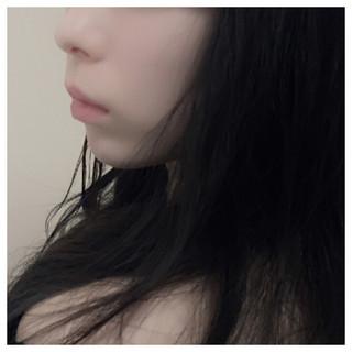 かっこいい 暗髪 ロング フェミニン ヘアスタイルや髪型の写真・画像