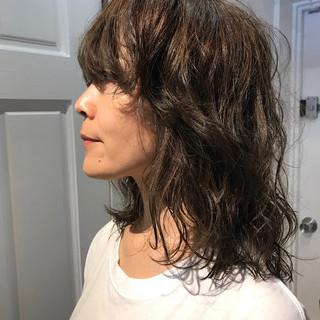 ミディアム マッシュ 外国人風 ウルフカット ヘアスタイルや髪型の写真・画像