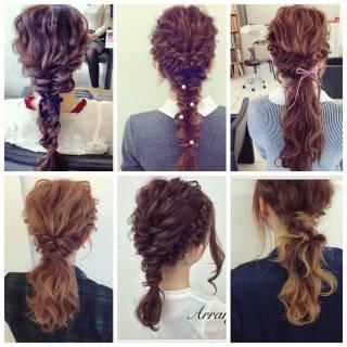 ルーズ ヘアアレンジ フィッシュボーン フェミニン ヘアスタイルや髪型の写真・画像 ヘアスタイルや髪型の写真・画像