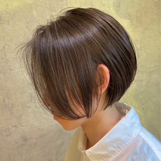 小顔ショート 前髪なし ショート ミニボブ ヘアスタイルや髪型の写真・画像