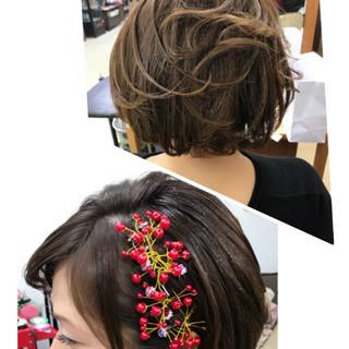 結婚式 エレガント ヘアアレンジ 大人女子 ヘアスタイルや髪型の写真・画像